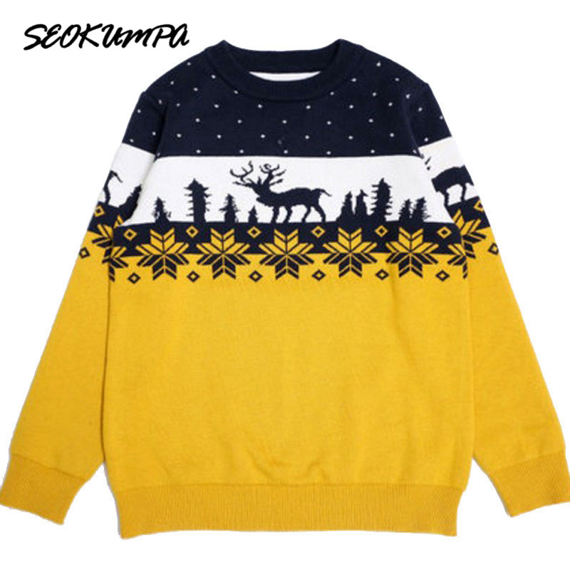2018 Autumn Winter New Kids Cartoon Christmas Deer Sweater Children New Year Clothing Boys Girls Cotton Pullover Baby Costumes christmas knitted sweater cardigan for girls autumn winter winter kids pullover deer clothing children sweater 10 years 12 14 page 9