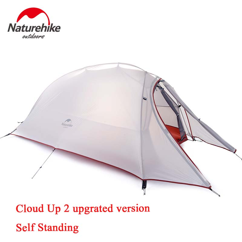 NatureHike Cloud Up 1 2 3 Person Free New Upgrated Self Standing Tent 20D Silicone Tents