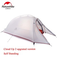 NatureHike Cloud Up 1 2 3 Person Free New Upgrated Self Standing Tent 20D Silicone Tents Double layer Camping Tent Outdoor Tent