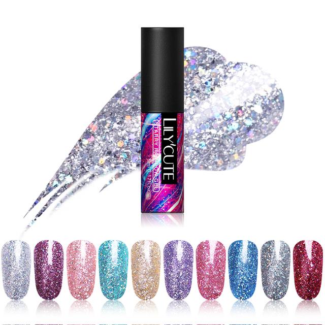 LILYCUTE 5ml Polished Glitter UV Nail Gel