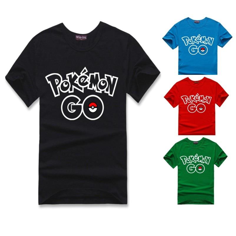 Pokemon Go Calidad Alta Nueva Camiseta Hombres Verano Juego Para qPaFwFn5T