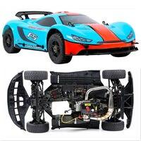 1/5 Scale ROVAN ROFUN F5 36CC with 2T Gasoline Engine 3 PCS 40KG Servo 4WD RC Drift Flat Car Sports Rally Car