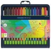 Schneider Line Up 0 4mm Multicolor Fiber Needle Pen 32 Color Set School Office Supplies Wholesale