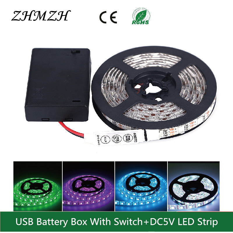 Tiras de Led bateria com interruptor + dc5v Marca : Zhmzh