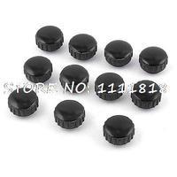 11 Pcs Noir 5mm Dia Filetage Femelle Tête Ronde Vis de Serrage Grip Bouton Moleté
