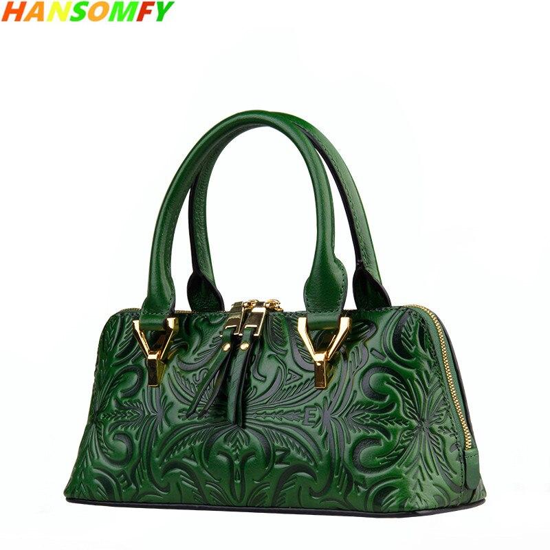купить 2018 New women Genuine Leather Shell Bags luxury fashion Handbags ladies Shoulder Bags female vintage crossbody Messenger bags в интернет-магазине