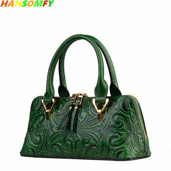 2020 New Women Genuine Leather Shell Bags Luxury Fashion Handbags Ladies Shoulder Bags Female Vintage Crossbody Messenger Bags - DISCOUNT ITEM  50 OFF Luggage & Bags