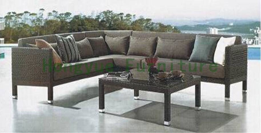 PE rattan outdoor sofa furniture wicker patio sofa set