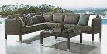 PE rattan outdoor sofa furniture,wicker patio sofa set