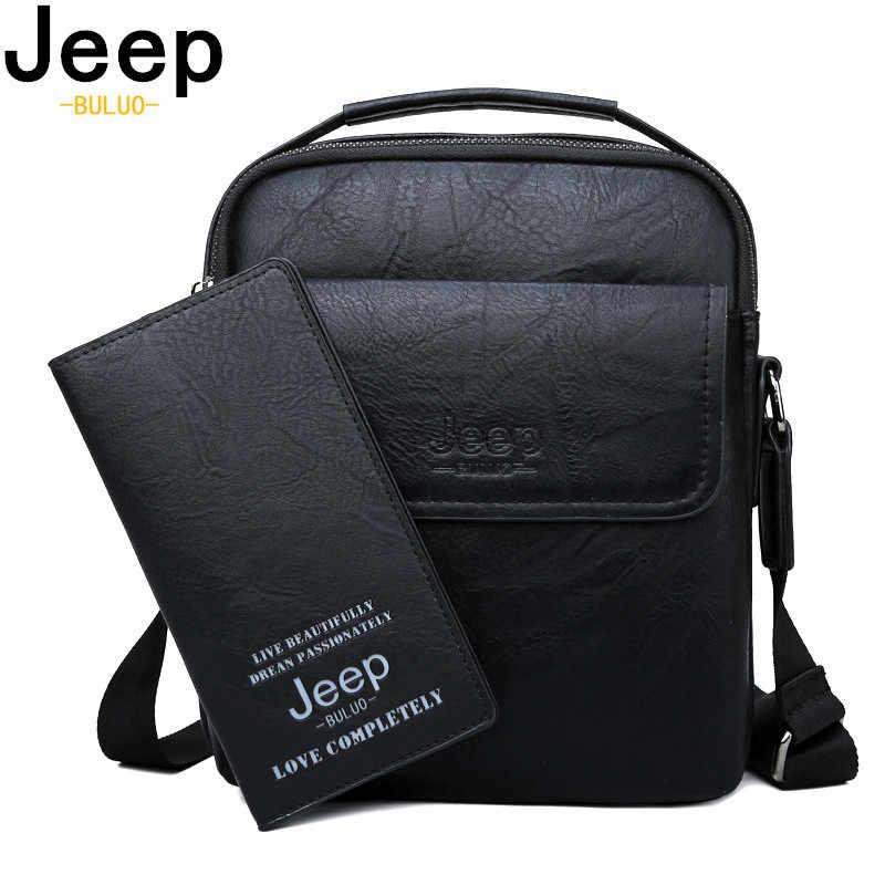 Jeep Buluo Baru Tiba Mewah Merek Pria Messenger Bag Vintage Kulit Tas Bahu Crossbody Tas Pengiriman Gratis pria