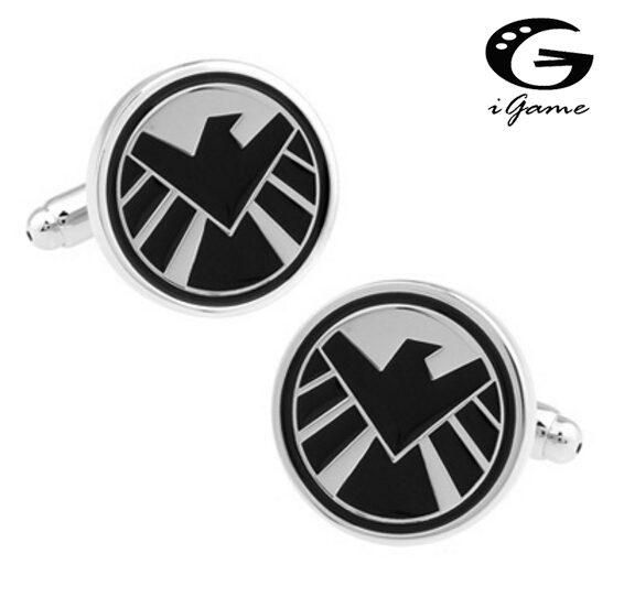 IGame Novelty Cufflinks SHIELD Agent Movie Star 7 Designs Option Quality Cuff Link Gift For Men
