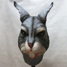 Hot selling Halloween Animal Party Cosplay Creepy Cute White Costume Rabbit Mask