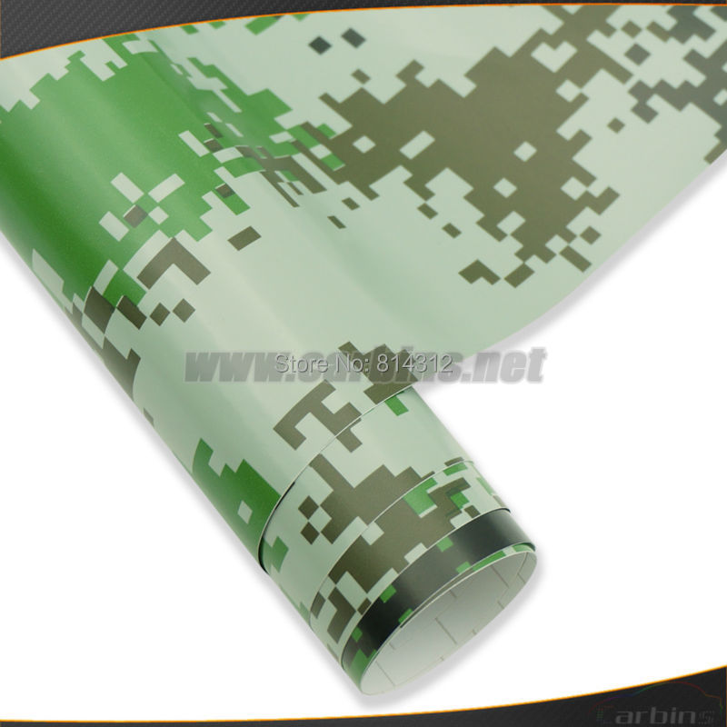 Air Force Green Camouflage Vinyl Wrap Sticker Bomb Free Shipping!