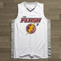 SYNSLOVEN ontwerp Mannen Basketbal Jersey top Uniformen nr 3 de flash thema Dwyane Wade Sport kleding mesh Ademend plus size