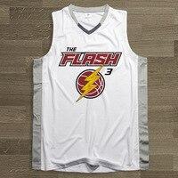 Synsloven дизайн Для мужчин Баскетбол трикотажный топ форма № 3 Flash тема Дуэйн Уэйд спортивная одежда Дышащие Большие размеры
