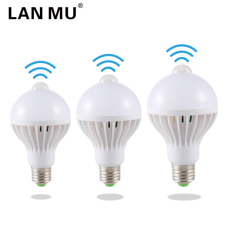 LED PIR Motion Sensor Lamp 5w Led Bulb E27 7w 9w Auto Smart Infrared Body With The Lights