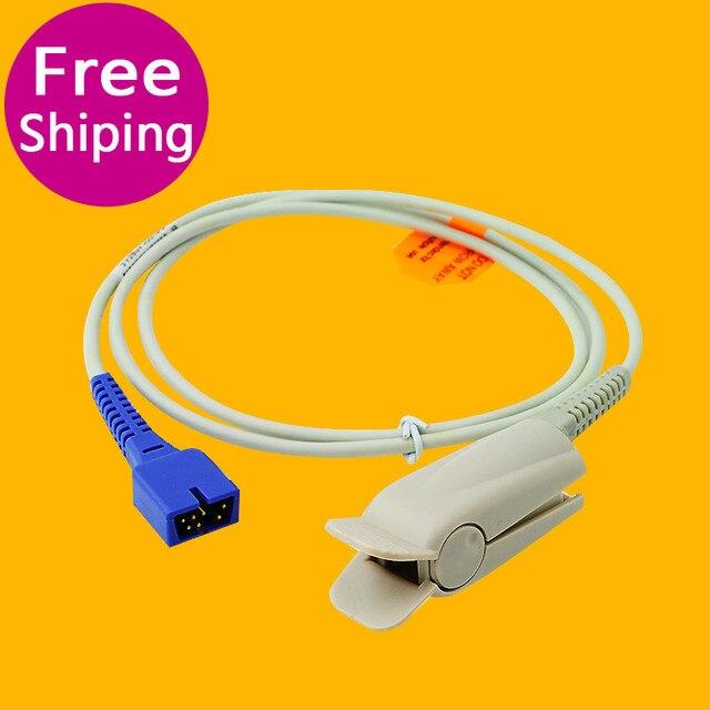 Nueva Llegada Cuidado de La Salud 7 Pines Dedo Adultos Clip Del Sensor Spo2 Compatible Nellcor DS-100A Adultos Clip de Dedo