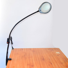 Desktop Magnifier 8X Magnifying Glass Table Machine Soft Rod Dimmable LED Light MagnifierFor Reading Repairing And Inspection dimmable led light magnifying glass 3x 10x soft rod desktop magnifier use for reading engraving repair