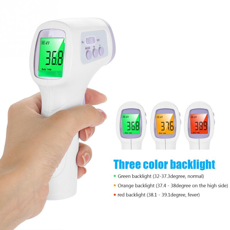 New LCD Digital Thermometer Non-contact IR Infrared Thermometer Forehead Body Temperature Meter Baby Adult Body IR Termometer