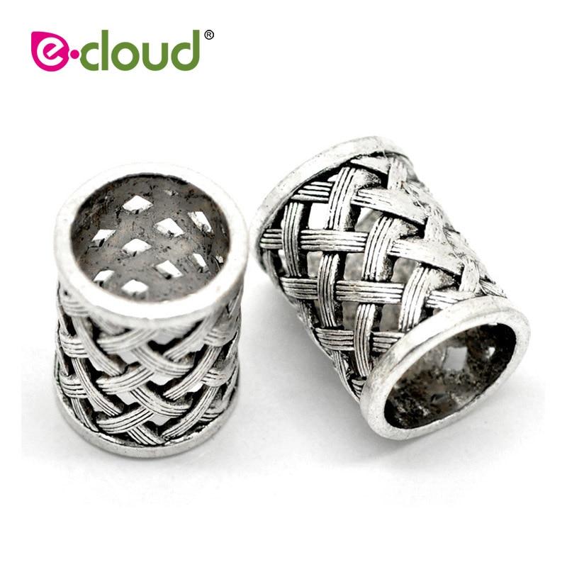 Wooden Dreadlock Rings Hair Beads Dreadlock Braid Accessories Jewelry 10 Pcs