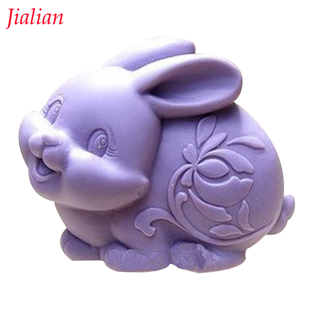 Easter hare Shape 3D fondant cake silicone mold kitchen chocolate jello candy making soap candle cupcake decoration tools F0292