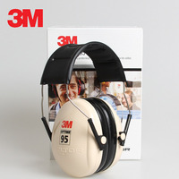 3M H6A Sound insulation Earmuffs SNR:27db Security 3M Ear Protector Noise reduction Soundproof Ear muffs For Study Sleeping Work