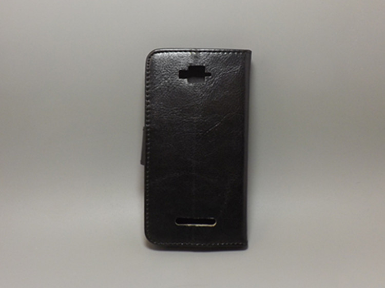 Crazy horse case hold two Cards with 2 Card Holder and pouch slot For Alcatel One Touch POP C7 OT 7041D OT 7040D
