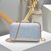 QIAOBAO Для женщин вечерняя сумочка; BS010 роскошный синий/розовый Свадебная вечеринка сумка Diamond горный хрусталь клатчи Кристалл Bling золота клатч кошельки