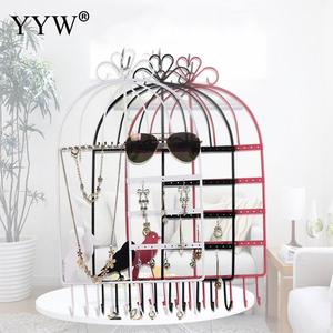 Metal Bird Cage Jewelry Displa