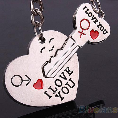 Llavero de Amantes para el Regalo en Día de San Valentín