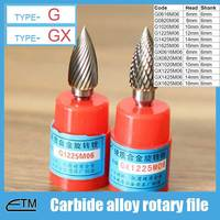 1 Piece Tungsten Carbide Alloy Rotary File Milling Cutter Drill Bit For Carving Sculpture Type G