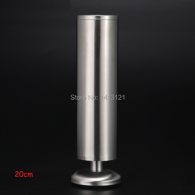 free shipping 20cm stainless steel furniture leg Adjustable furniture foot bed cabinet coffee table sofa supporting leg hardware free shipping 18 inch 457 mm furniture leg many color raw steel hairpin leg for coffee table leg side table leg sofa table