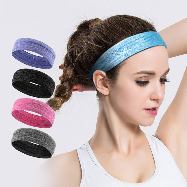 Unisex Yoga Sweatband Silicone Antiskid Sweat Headband Men Sports Headscarf Women Jogging Hair Belt Headsize Fits 50-62cm N311