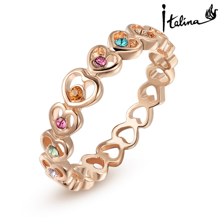 New Sale Brand TracysWing Genuine Austria Crystal Copper gold Color Rings for Women #RG95178Rose