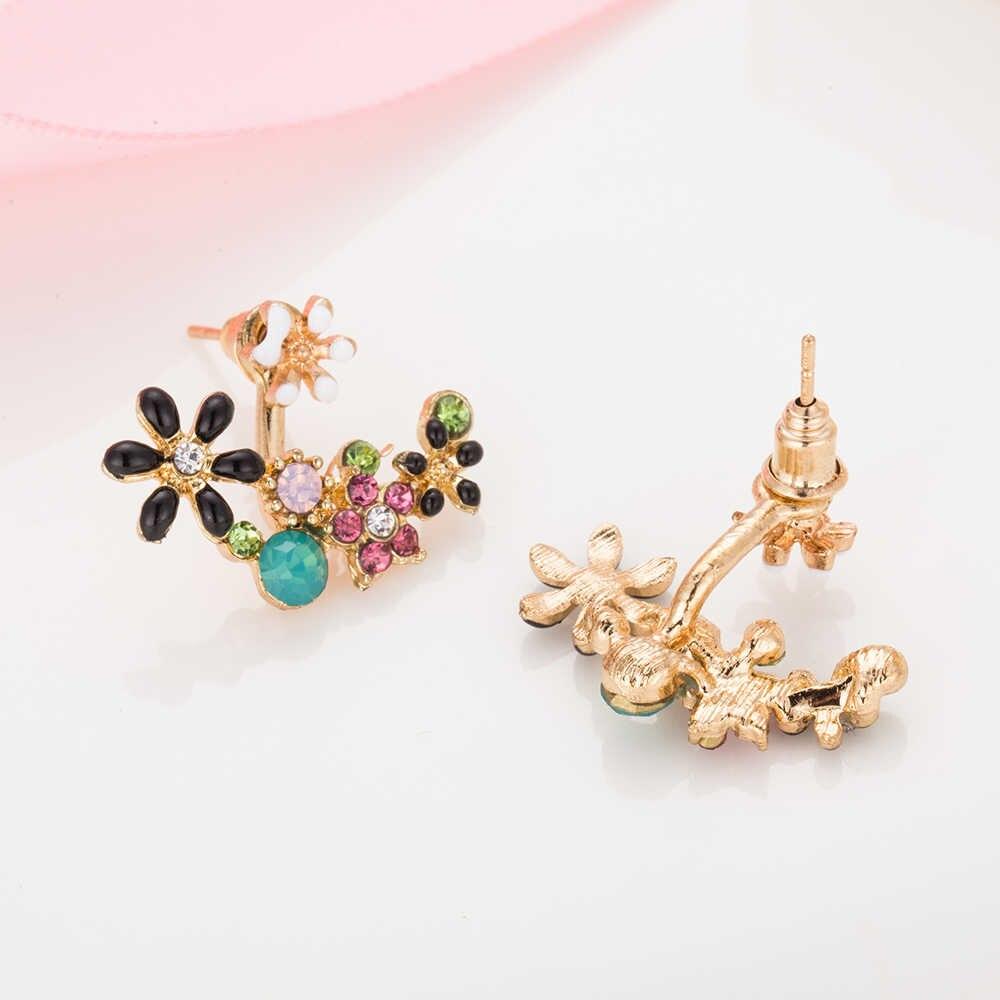 FAMSHIN moda taklit inci küpeler küçük papatya çiçekleri sonra asılı kıdemli çiçek küpe kadın mücevheratı toptan