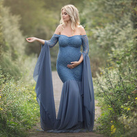 Maternity Photography Props Dresses For Pregnant Women Clothes Lace Maternity Dresses For Photo Shoot Pregnancy Dresses Clothing