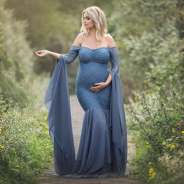 Mutterschaft Fotografie Requisiten Kleider Für Schwangere Frauen Kleidung Spitze Mutterschaft Kleider Für Foto Schießen Schwangerschaft Kleider Kleidung