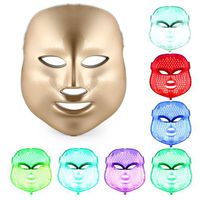 TOP BEAUTY 3 Colors LED Facial Mask Photon Facial Mask Wrinkle Face Skin Rejuvenation Massager Acne