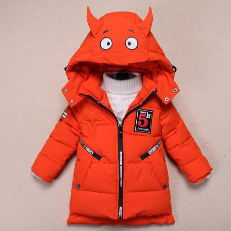Boys Clothing Winter Jacket For Baby Boy Children Animal Jackets Kids Hoodies Down Outerwear Infant Coat 2-7 Years