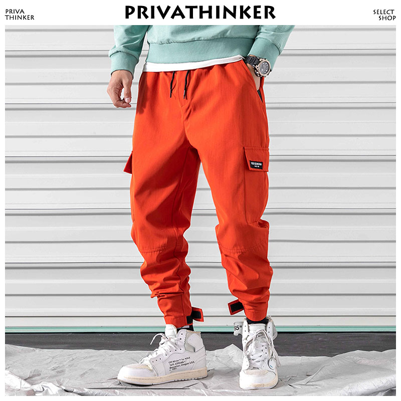 Privathinker Pockets Cargo Pants Men Clothing 2018 Man Streetwear Harem Pants Male Hip Hop Joggers Pants Korean Fashion Trousers