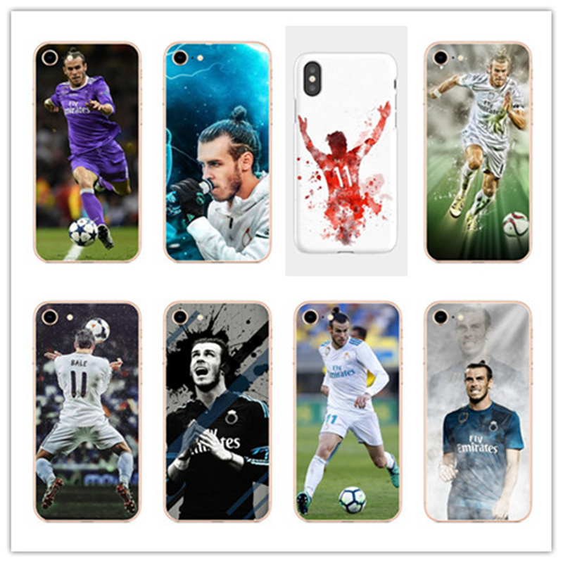 KULIAI The 2018 champions Real Madrid player GARETH BALE Hard Phone Case For iPhone 4 4s 5 5s SE 5C 6 6s 7 Plus 8 X