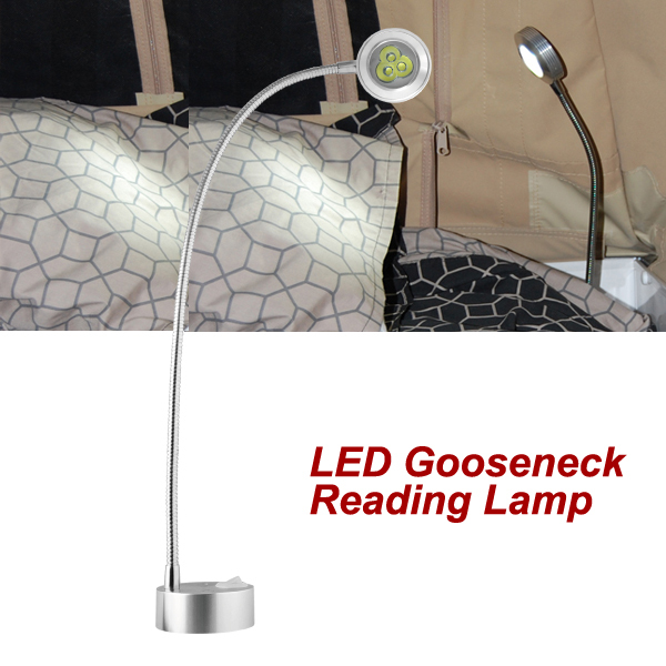 12v flexible led gooseneck reading lamp cool white caravan for 12v led table lamp