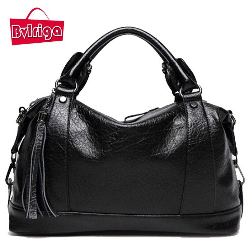 177f899e218 Detail Feedback Questions about BVLRIGA Cheap PU Leather Bags Women Handbag  Messenger Bag Shoulder Strap Female Bag Ladies Handbag Big Large Autumn  Black ...