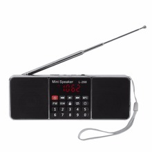 Multifunctional Dual Channel Digital Portable MP3 Music Player Speakers Loudspeaker Support TF Card USB Disk L288