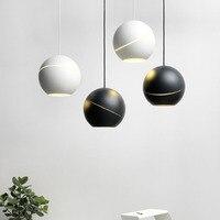 Nordic Обеденная светодиодное освещение Бар Ресторан подвесной светильник Современные светодиодные мяч подвесные светильники Костюмы магаз