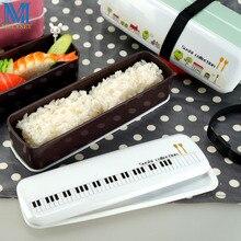 Doppelschichten Mini Bento Lunchbox Japanischen Stil Sushi Sammlung Geschirr Set Plastiknahrungsmittelbehälter