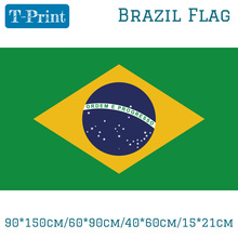 Free shipping 90*150cm/60*90cm Brazil Flag 40*60cm/15*21cm Banners For Event / Office Home decoration