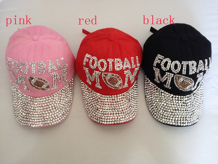 Free shipping wholesale fashion hat caps men and women s baseball cap  rhinestone hat football cotton snapback cap 31f26ef4b6f