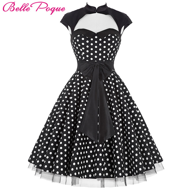 Belle Poque Summer 50s Polka Dot Retro Vintage Pinup Dress