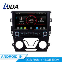 LJDA Android 9.1 Car DVD Player For Ford Mondeo Fusion 2013 2014 GPS Navigation 1 Din Car Radio Multimedia WIFI Stereo Headunit